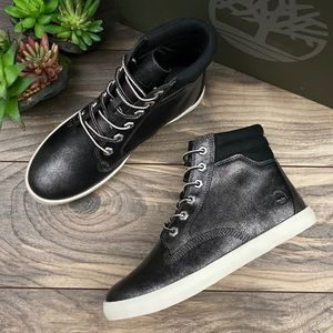 Timberland Dausette Black High Top Sneaker Boots
